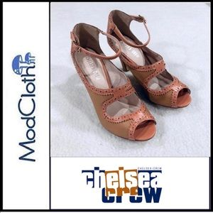 MODCLOTH CHELSEA CREW Escada Peep Toe Heel Shoes